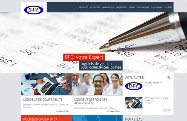 Découvrez le site internet de BFC Logiciels, Nouméa